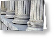 Columns Greeting Card by Jon Neidert