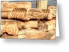 Columns Of The Parthenon Greeting Card by Deborah Smolinske