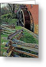 Colvin Run Mill Greeting Card by Suzanne Stout
