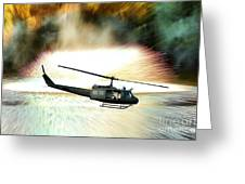 Combat Helicopter Greeting Card by Olivier Le Queinec