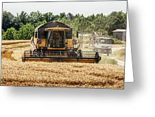 Combine Harvester Greeting Card by Georgia Fowler