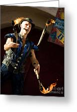 Comedy Juggling Greeting Card by Mary AD Art