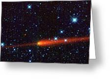 Comet 65p-gunn, Infrared Image Greeting Card by Science Photo Library