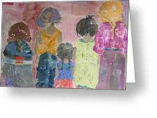 Comfort In Friends Greeting Card by Vicki Aisner Porter