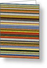 Comfortable Stripes Vll Greeting Card by Michelle Calkins