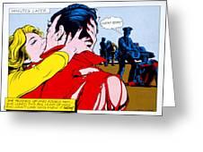 Comic Strip Kiss Greeting Card by MGL Studio