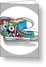 Comics Shoes 2 Greeting Card by Mark Ashkenazi