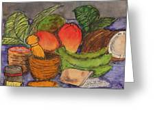 Comida Greeting Card by Amanda Morales