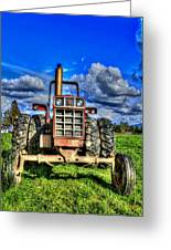 Coming Out Of A Heavy Action Tractor Greeting Card by Eti Reid