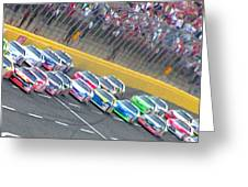 Coming Out Of Turn 4 Greeting Card by Kenneth Krolikowski