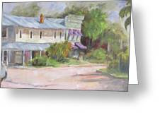 Commerce Street Apalach Greeting Card by Susan Richardson