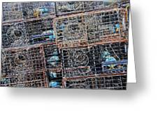 Commercial Fishing Pots Greeting Card by Heidi Smith