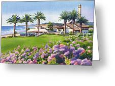 Community Center At Del Mar Greeting Card by Mary Helmreich
