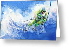 Competitive Edge Greeting Card by Hanne Lore Koehler