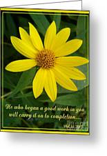 Completion Greeting Card by Sara  Raber