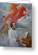 Composer Felix Mendelssohn Greeting Card by Svitozar Nenyuk