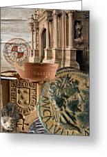 Composition For Poster Xiv Jornadas De Estudios Calagurritanos Greeting Card by RicardMN Photography
