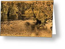 Concord River At Old North Bridge Greeting Card by Nigel Fletcher-Jones