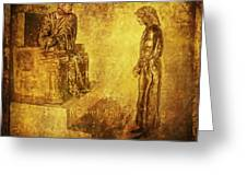 Condemned Via Dolorosa1 Greeting Card by Lianne Schneider