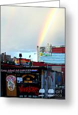 Coney Island Rainbow Greeting Card by Robert Riordan