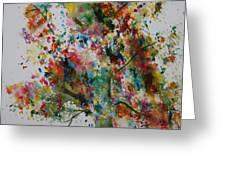 Confetti Tree Greeting Card by Patsy Sharpe