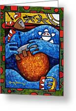 Conga On Fire Greeting Card by Oscar Ortiz
