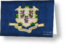 Connecticut State Flag Greeting Card by Pixel Chimp