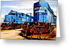Conrail Choo Choo  Greeting Card by Frozen in Time Fine Art Photography