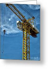 Construction Crane Asia Greeting Card by Antony McAulay