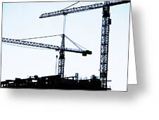 construction cranes Greeting Card by Antony McAulay