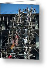 Construction Site In India Greeting Card by Carl Purcell