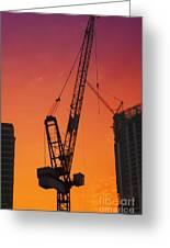 Construction Site Greeting Card by Jelena Jovanovic