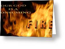 Consuming Fire Greeting Card by Beverly Guilliams
