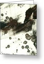 Contemplation In Black And White Abstract Art Greeting Card by Ann Powell