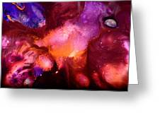 Contemporary Abstract Purple Bubbles By Kredart Bubl Greeting Card by Serg Wiaderny