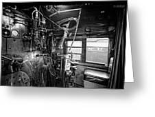 Controls Of Steam Locomotive No. 611 C. 1950 Greeting Card by Daniel Hagerman