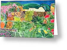 Convent Gardens Antigua Greeting Card by Hilary Simon