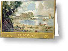 Conway Castle Greeting Card by Sir David Murray