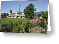 Conway Scenic Railroad - North Conway New Hampshire USA Greeting Card by Erin Paul Donovan