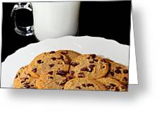 Cookies - Milk - Chocolate Chip - Baker Greeting Card by Andee Design
