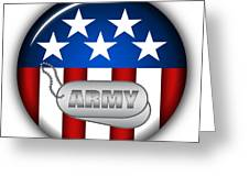 Cool Army Insignia Greeting Card by Pamela Johnson