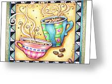 Cool Beans Greeting Card by Pop Art Diva