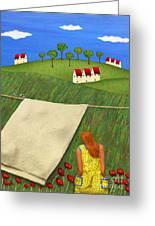 Cool Breeze Greeting Card by Anne Klar