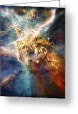 Cool Carina Nebula Pillar 4 Greeting Card by The  Vault - Jennifer Rondinelli Reilly