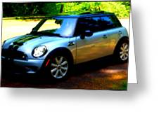 Cool Cooper Sport Greeting Card by Kathy Sampson