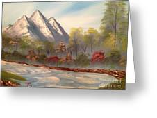 Cool Mountain River Greeting Card by Tim Blankenship