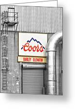 Coors Barley Elevator Bw Color Greeting Card by James BO  Insogna