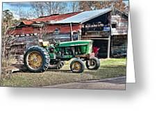 Coosaw - John Deere Tractor Greeting Card by Scott Hansen