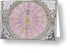 Copernican Planisphere, 1708 Greeting Card by Science Photo Library