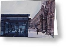Copley Winter Greeting Card by Deb Putnam